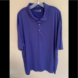 Roundtree & Yorke Breathable Golf Polo Purple